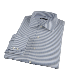 Navy and Green Pinstripe Dress Shirt