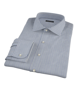 Navy and Green Pinstripe Tailor Made Shirt