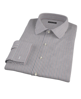 Navy and Red Pinstripe Custom Made Shirt