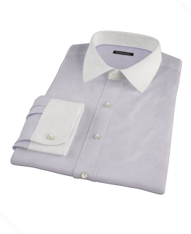 Lavender Wrinkle Resistant Mini Herringbone Custom Made Shirt
