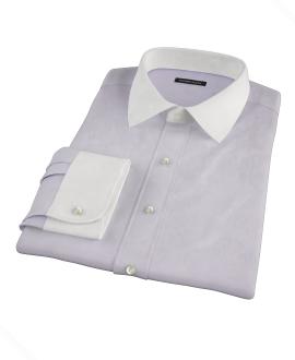 Lavender Wrinkle Resistant Mini Herringbone Custom Made Shirt
