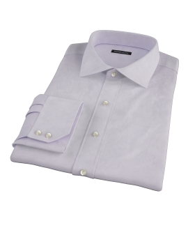 Lavender Wrinkle Resistant Mini Herringbone Dress Shirt 