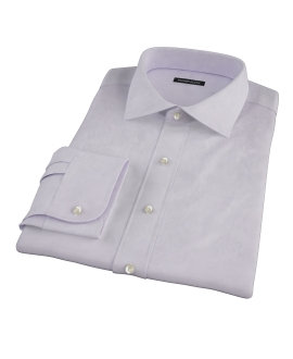 Lavender Wrinkle Resistant Mini Herringbone Tailor Made Shirt 