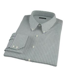 Canclini Green and Blue Multi Gingham Custom Dress Shirt