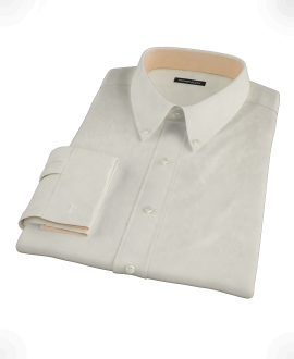 Ecru Pinpoint Fitted Dress Shirt