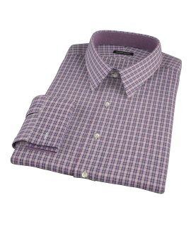 Violet Plaid Oxford Cloth Fitted Shirt