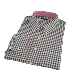 Heavy Black Check Fitted Shirt