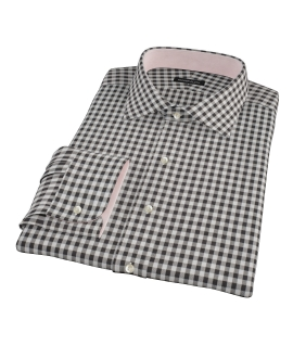 Heavy Black Check Custom Made Shirt