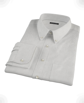 Japanese Gray Mini Grid Dress Shirt