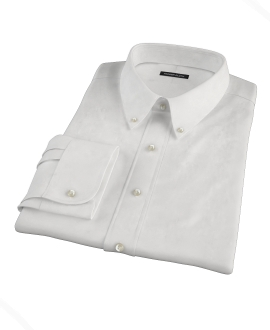 White Royal Oxford Fitted Dress Shirt