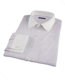 Lavender Dobby Stripe Men's Dress Shirt
