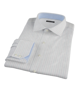 Blue and Lavender Stripe Fitted Shirt 