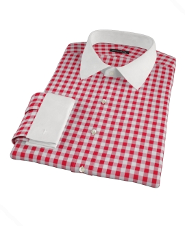 Red Large Gingham Custom Dress Shirt 