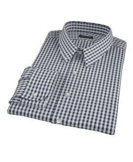 Dark Navy Gingham Custom Made Shirt