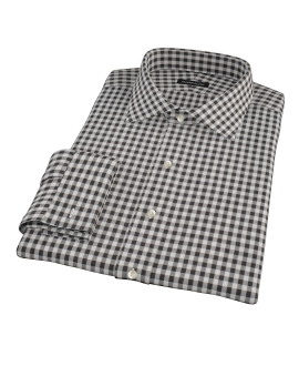 Heavy Black Check Tailor Made Shirt