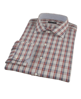Maroon and Blue Plaid Custom Made Shirt 
