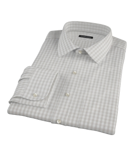 Pale Gray Gingham Tailor Made Shirt