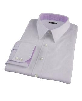 Canclini Lavender Imperial Twill Men's Dress Shirt