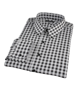 Black Large Gingham Custom Dress Shirt