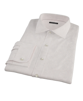 Morton Wrinke-Resistant Red Stripe Fitted Dress Shirt