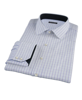 Light Blue and Navy Glen Plaid Dress Shirt