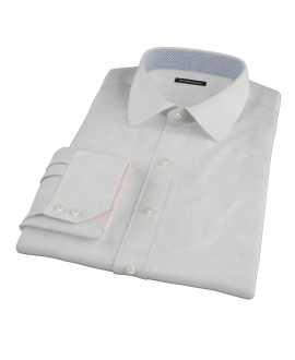 100s Pale Gray Stripe Dress Shirt