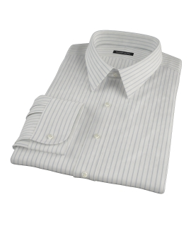 Japanese White and Blue Men's Dress Shirt