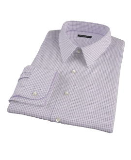 Purple Grid Fitted Shirt 
