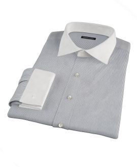 100s Navy Stripe Custom Dress Shirt 