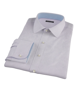 Lavender Imperial Twill Custom Dress Shirt