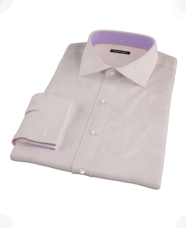Pink Cavalry Twill Herringbone Fitted Shirt