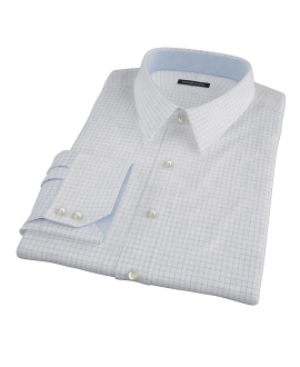 Light Blue Check Fitted Shirt 