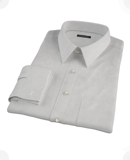 Light Gray End on End Men's Dress Shirt