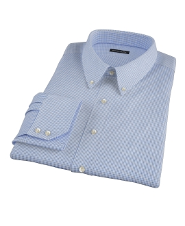 Royal Blue Small Grid Fitted Dress Shirt