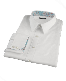 White Egyptian Twill Men's Dress Shirt
