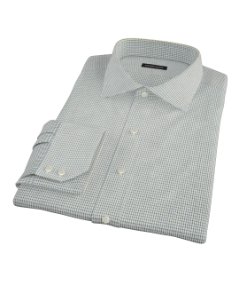 Green and Blue Check Tailor Made Shirt 