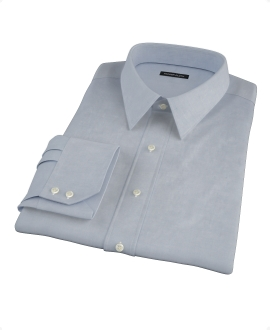 Blue 120s End on End Custom Dress Shirt 