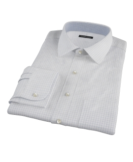 Morton Wrinkle-Resistant Navy Graph Men's Dress Shirt 