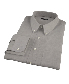 Charcoal 100s Oxford Fitted Shirt