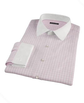 Pale Pink Gingham Dress Shirt