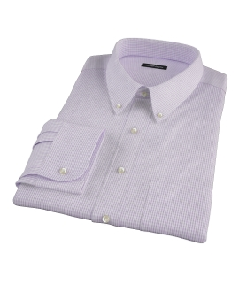Lavender Multi-Check Custom Dress Shirt