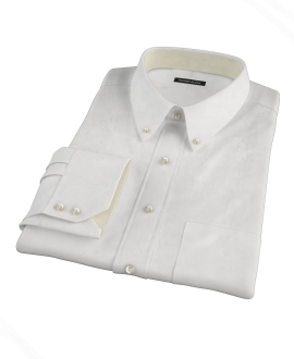 White Wrinkle Resistant Cavalry Twill Fitted Shirt 