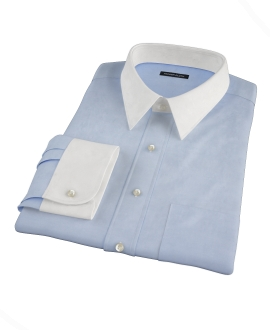 Bowery Blue Wrinkle-Resistant Pinpoint Men's Dress Shirt