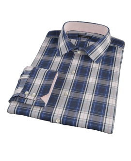 Large Blue and Pink Plaid Custom Dress Shirt