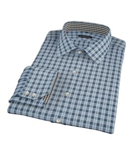 Thompson Light Blue Plaid Fitted Shirt