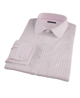 Pale Pink Gingham Tailor Made Shirt