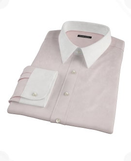 Pink Wrinkle Resistant Cavalry Twill Custom Made Shirt
