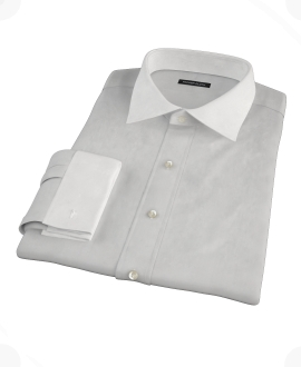 Light Gray End on End Fitted Dress Shirt