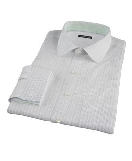 Blue and Green Stripe Dress Shirt