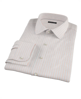 Blue and Red Stripe Fitted Dress Shirt 